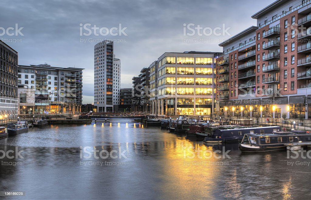 Clarence Dock stock photo