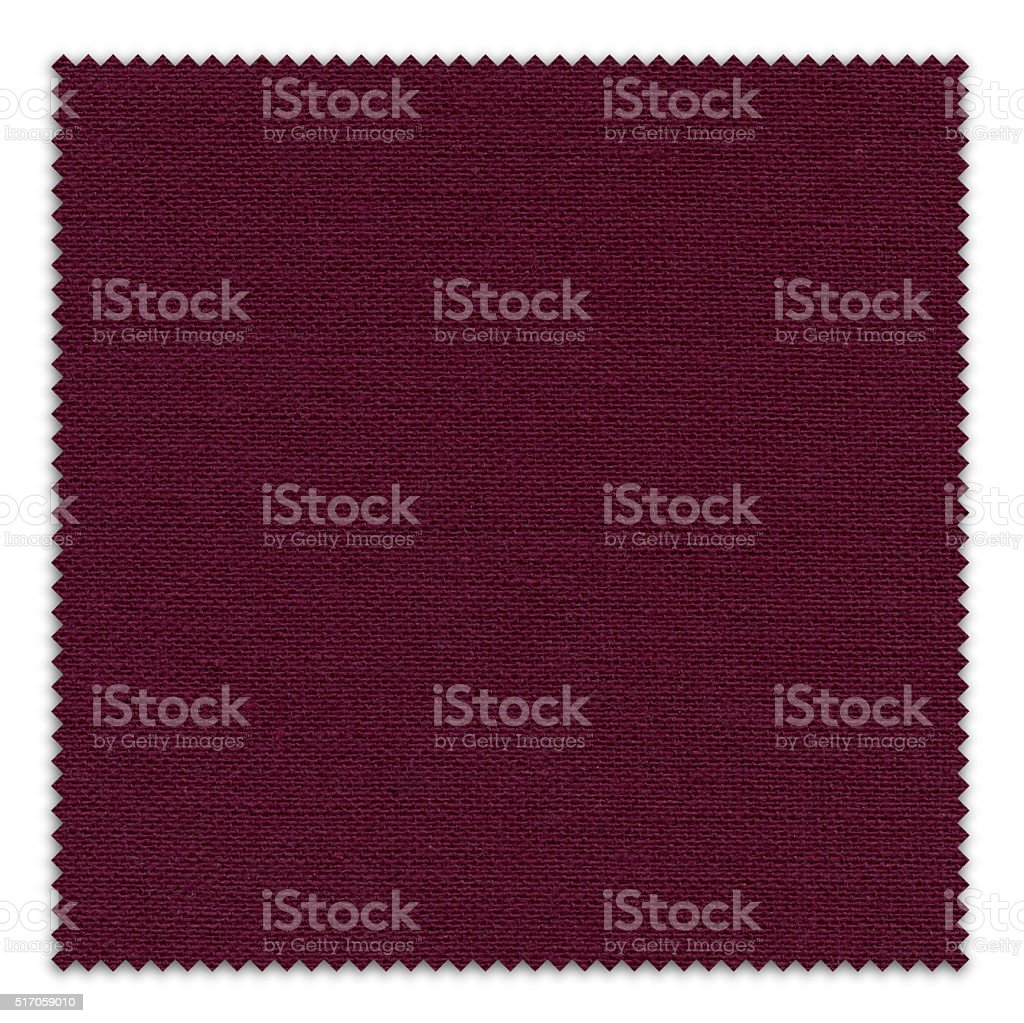 Claret Red Fabric Swatch (Clipping Path) stock photo