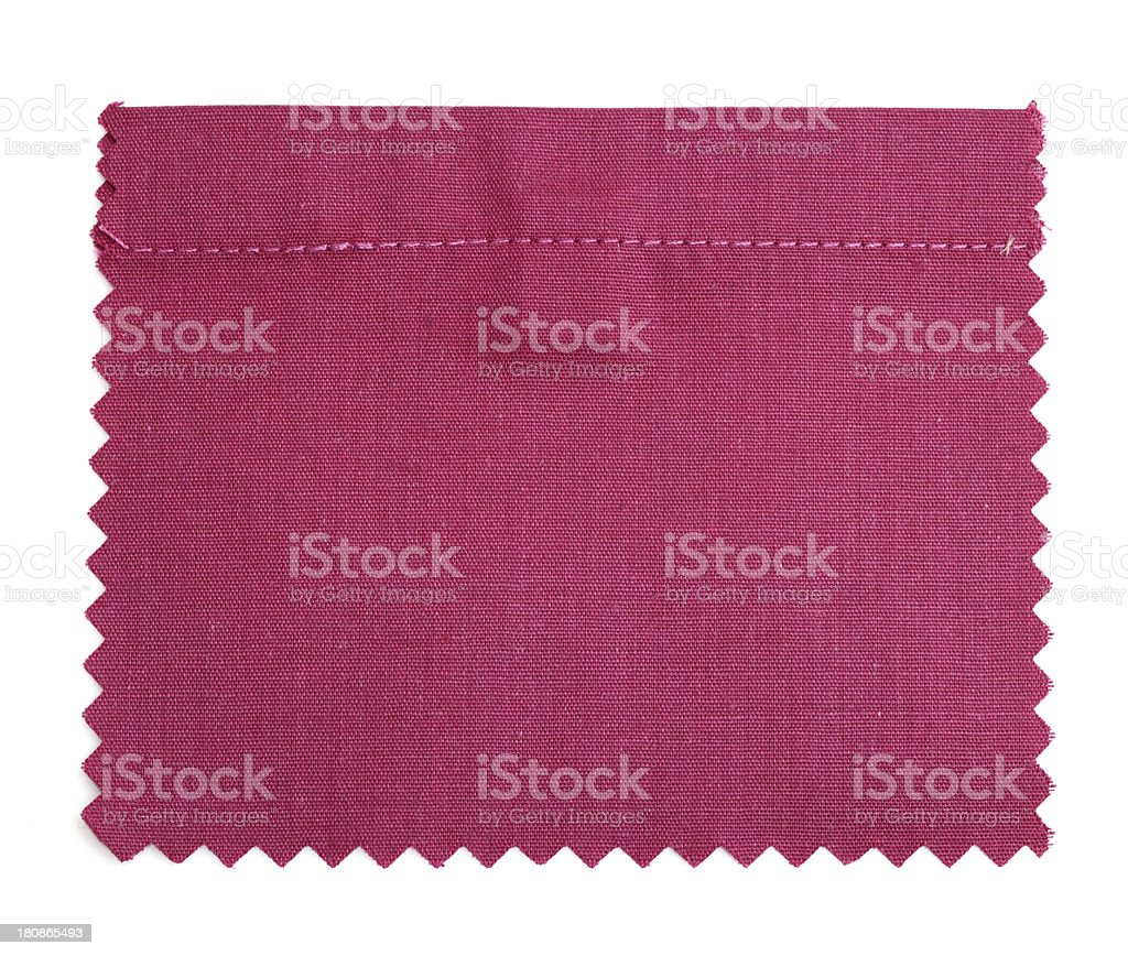 Claret Red Stitched Fabric Swatch stock photo