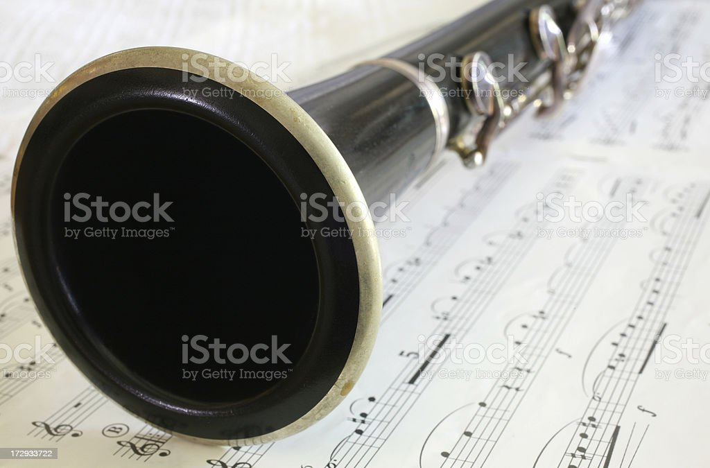 Clarinet Close-up royalty-free stock photo