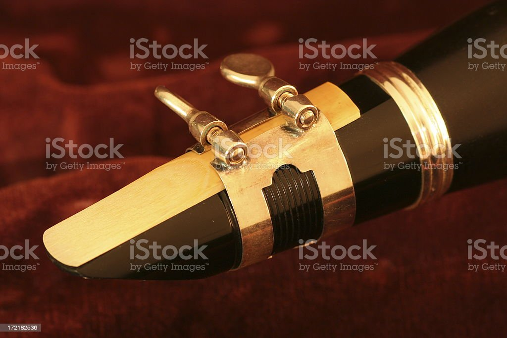 Clarinet mouth piece royalty-free stock photo