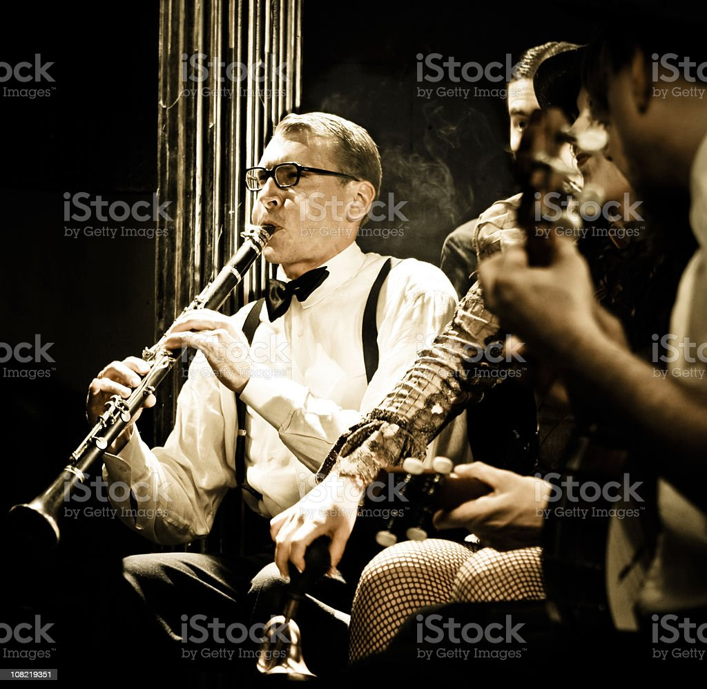 Clarinet stock photo