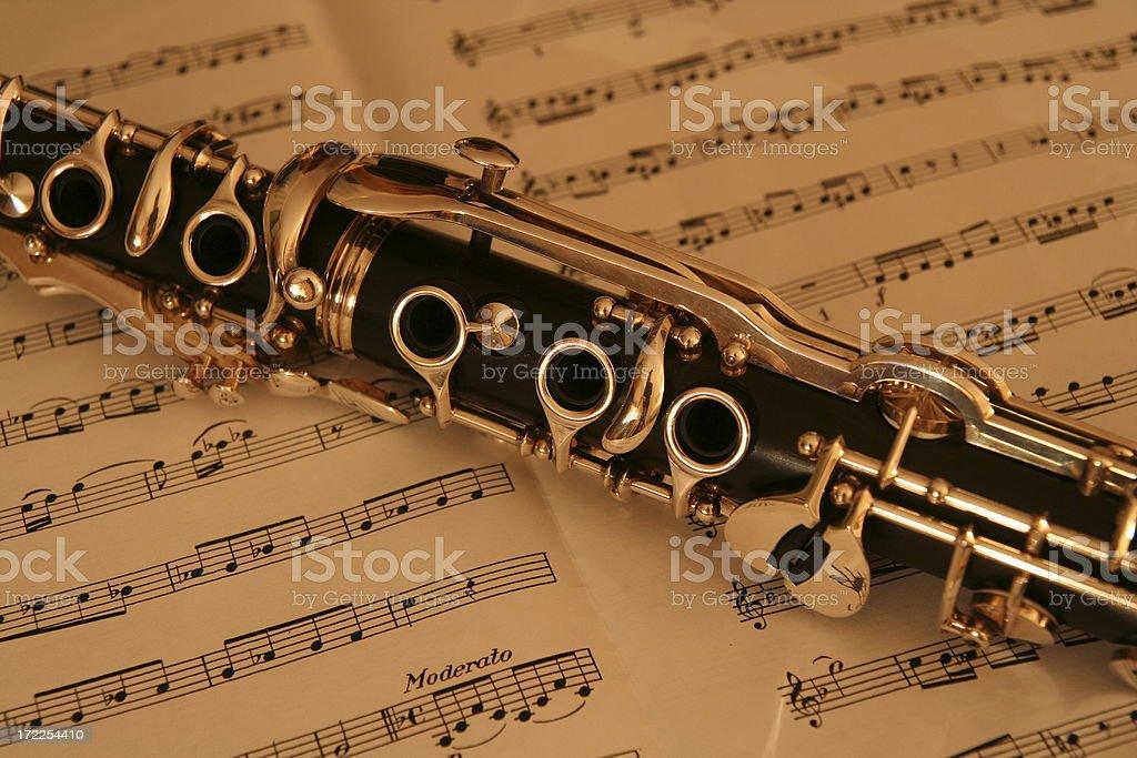 Clarinet royalty-free stock photo