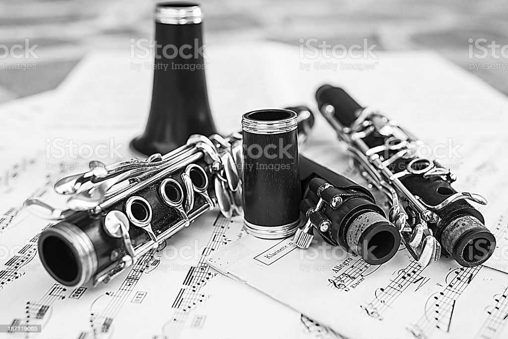 Clarinet royalty-free stock photo