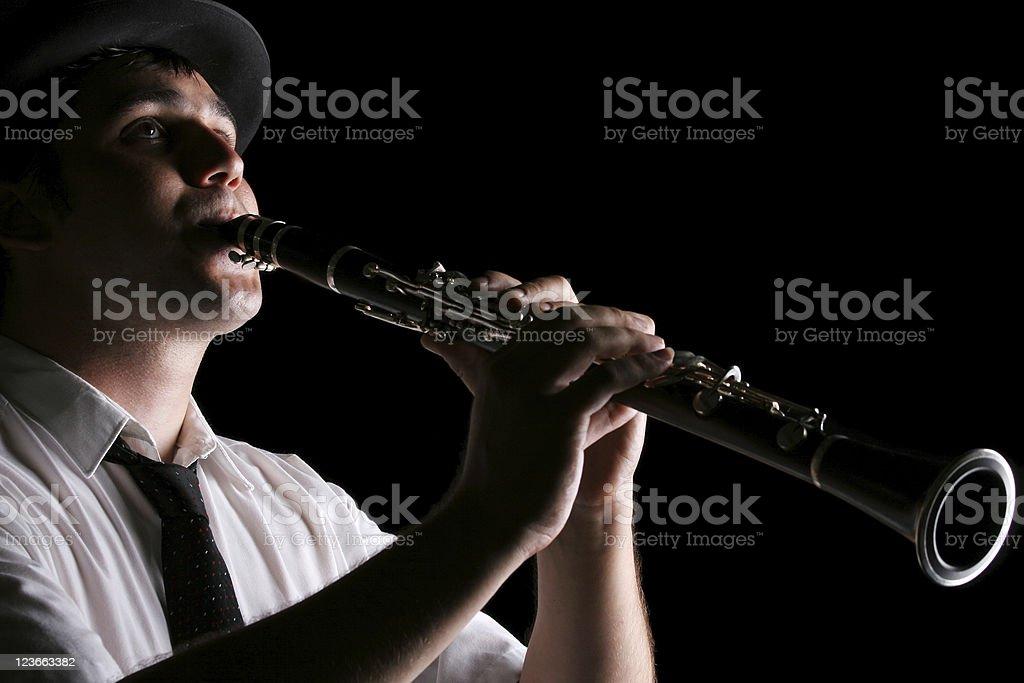 Clarinet player royalty-free stock photo