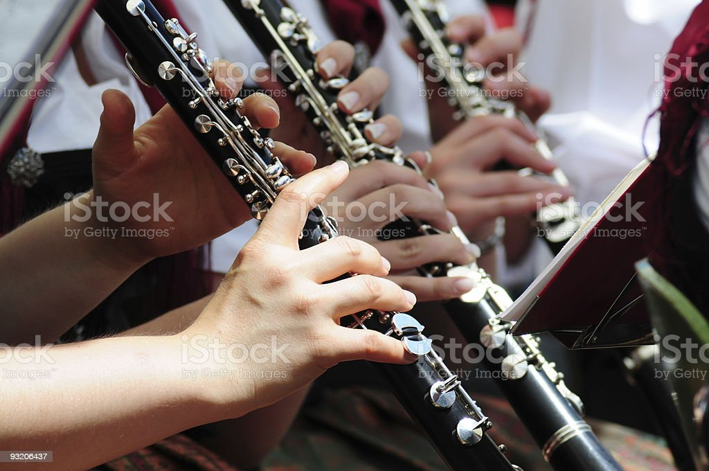 Clarinet section stock photo