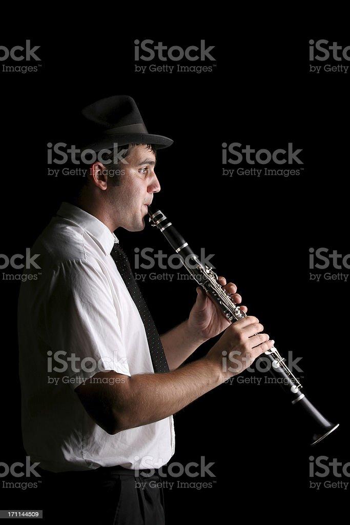 Clarinetist stock photo