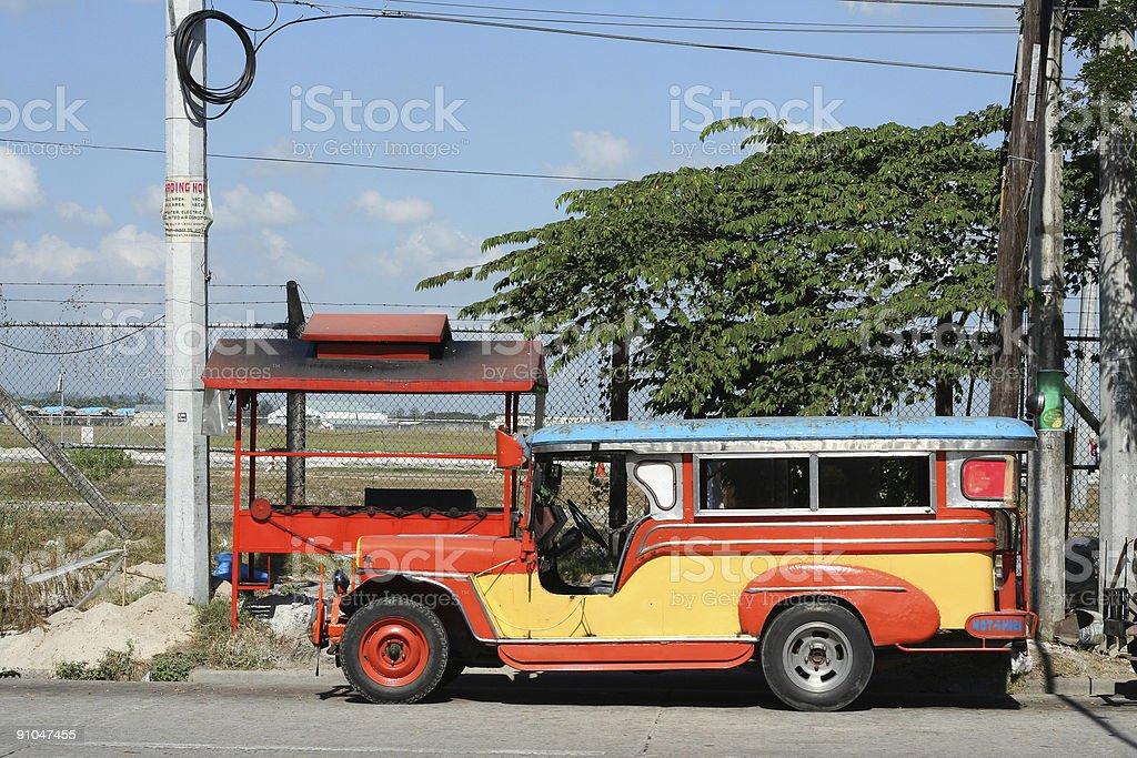 clark airport jeepney philippines public transport royalty-free stock photo