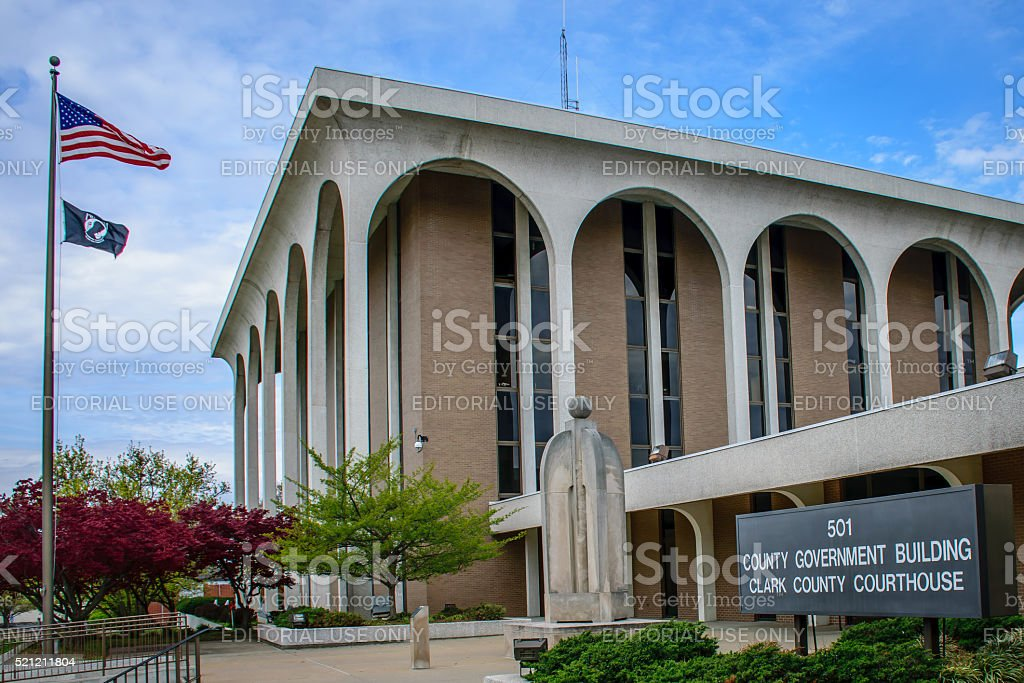 Clark County Indiana Courthouse stock photo