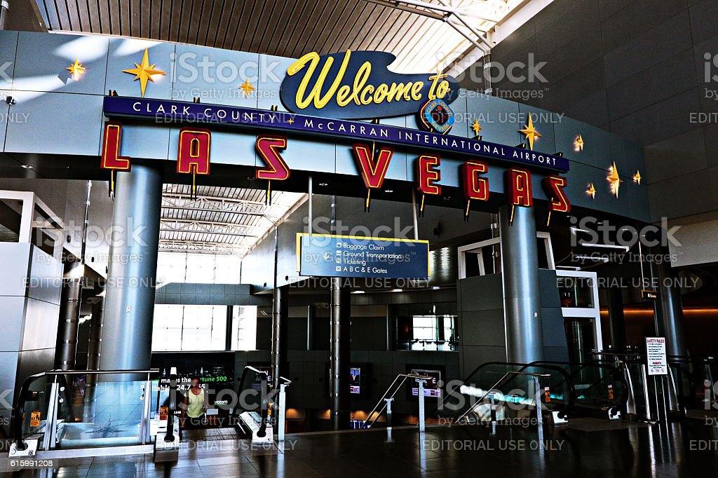 Clark County McCarran International Airport - Las Vegas, USA stock photo