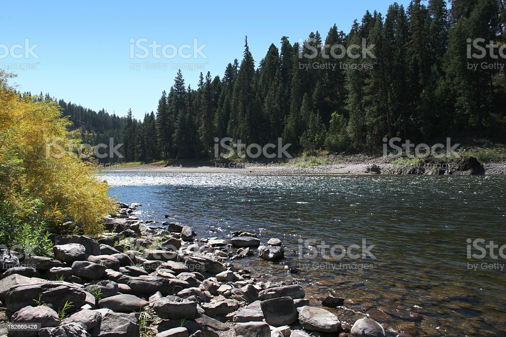 Clark Fork, Montana - Travel Photo royalty-free stock photo