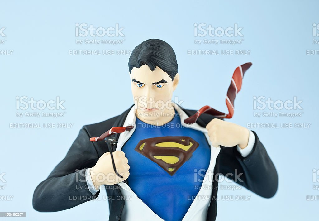 Clark Kent becomes Superman royalty-free stock photo