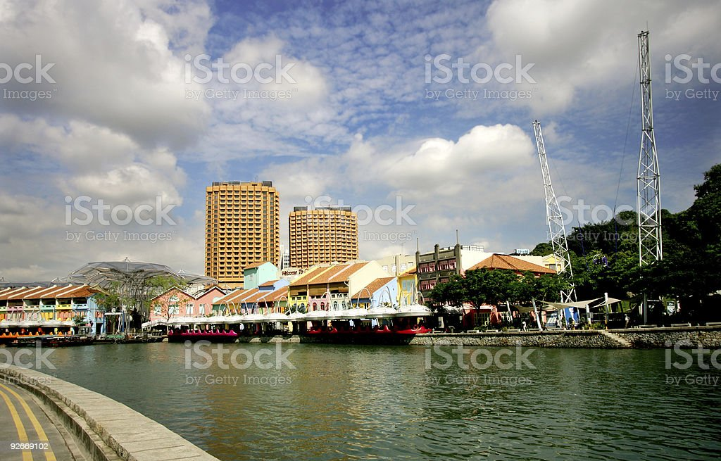 Clark Quay, Singapore royalty-free stock photo