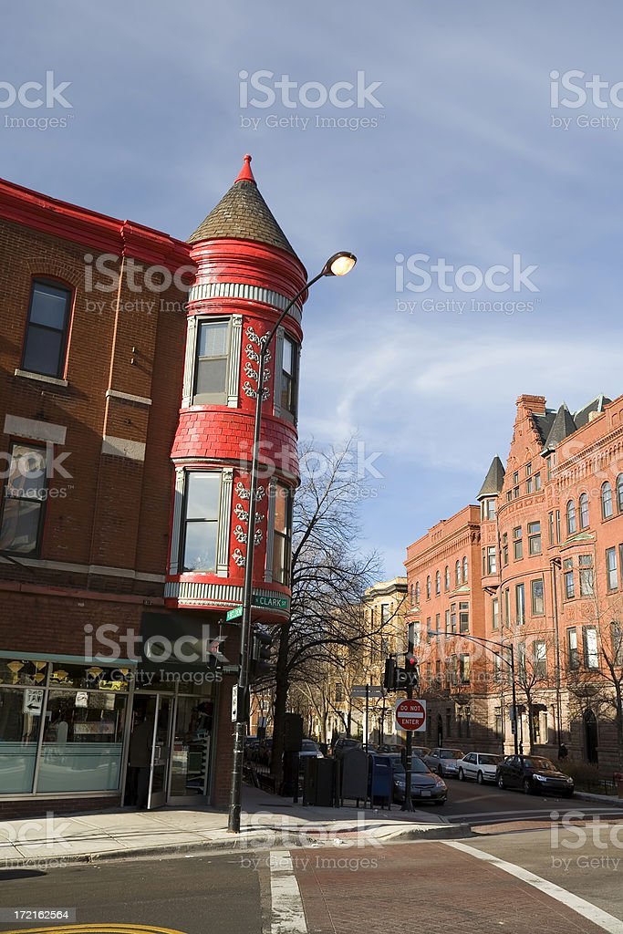 Clark Street, Chicago stock photo
