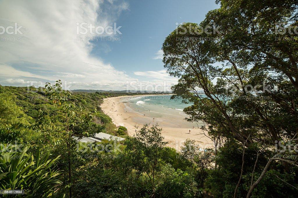 Clarkes beach in Byron Bay, Australia stock photo