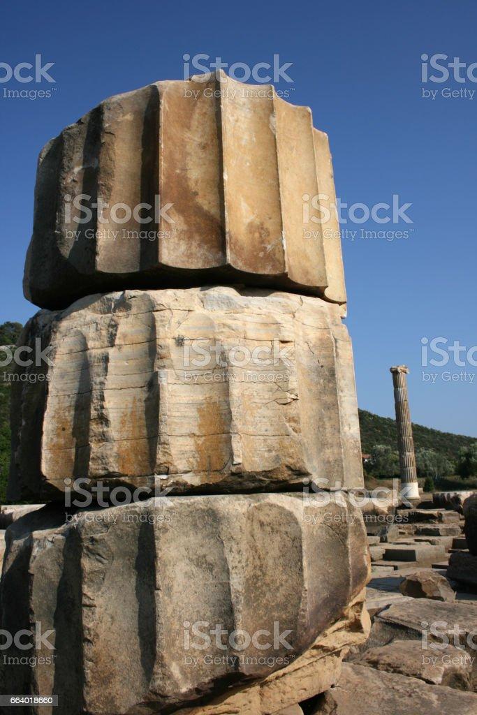 Claros Ancient City stock photo