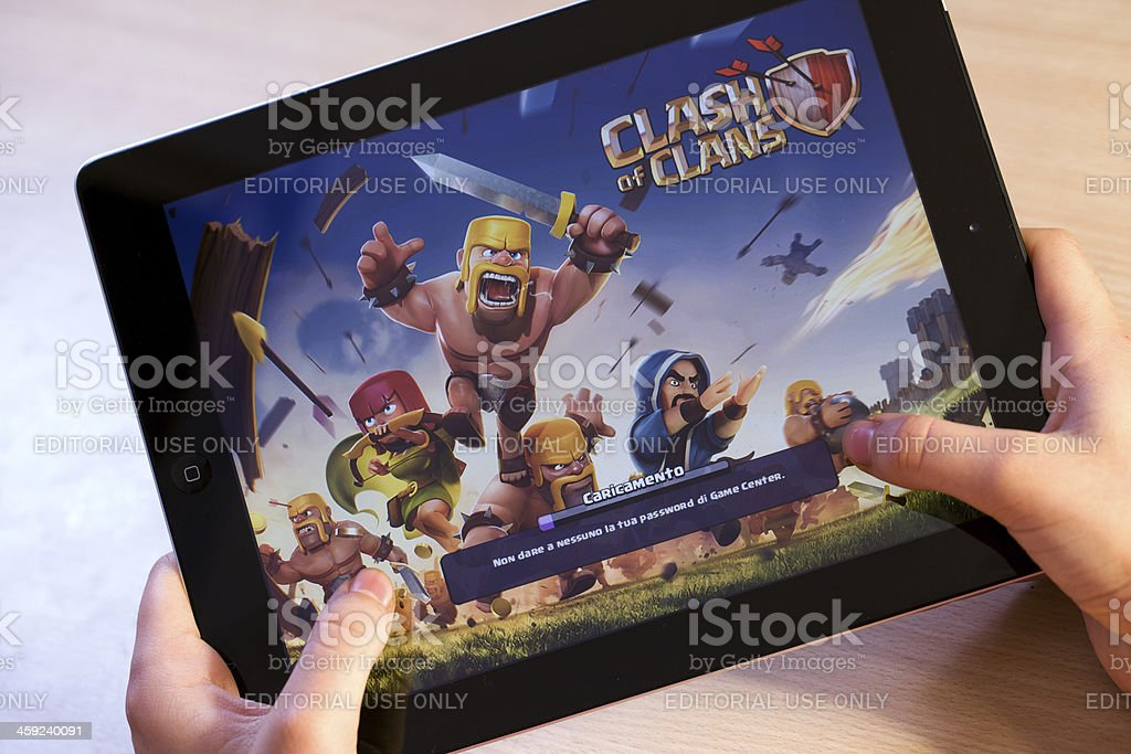 Clash of Clans on  Ipad stock photo