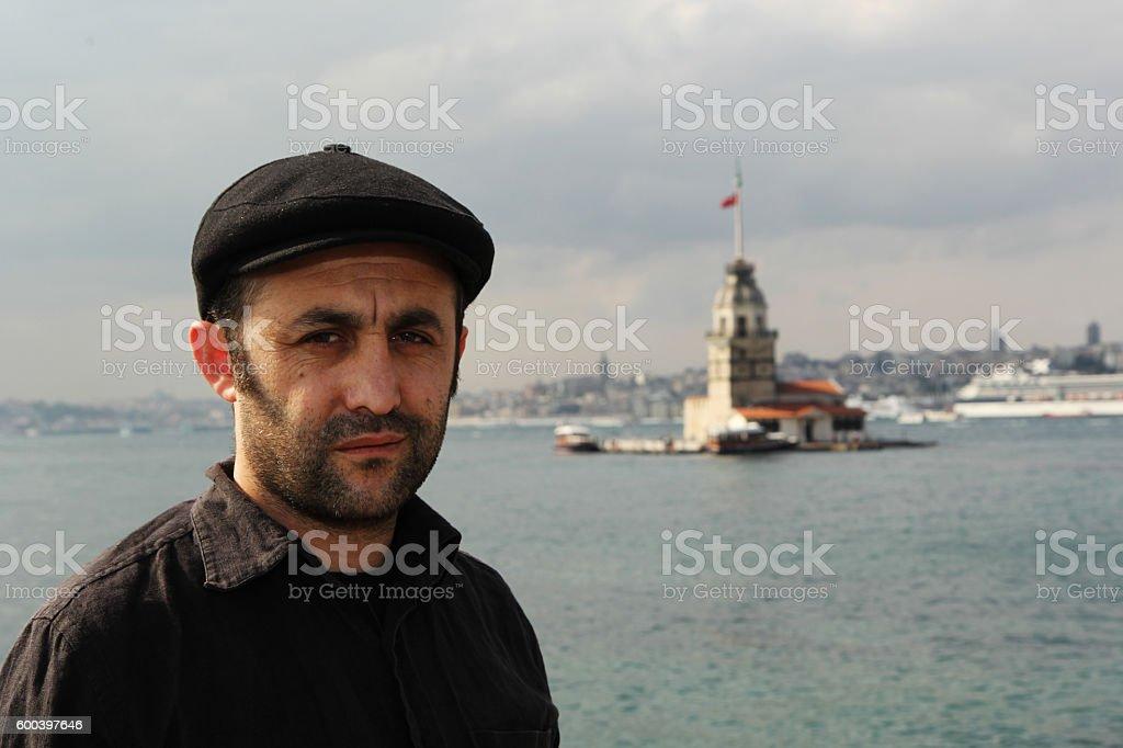 Clasical turkish man stock photo