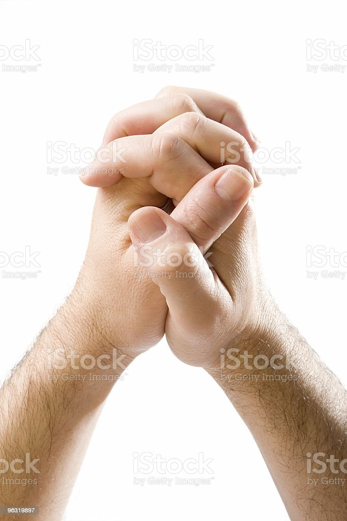 Clasped hands royalty-free stock photo