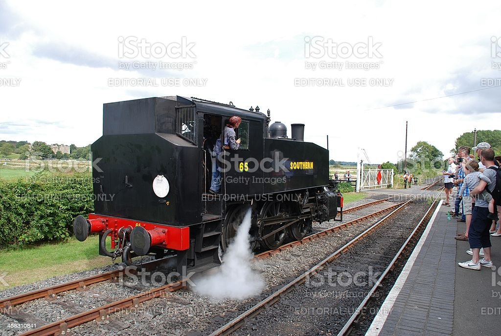 USA class 0-6-0T steam locomotive stock photo