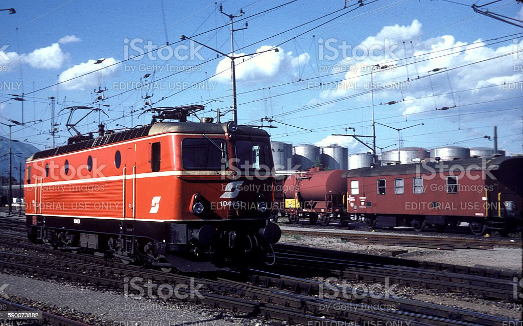 OBB Class 1044, No. 51 - Buchs, 1980 stock photo