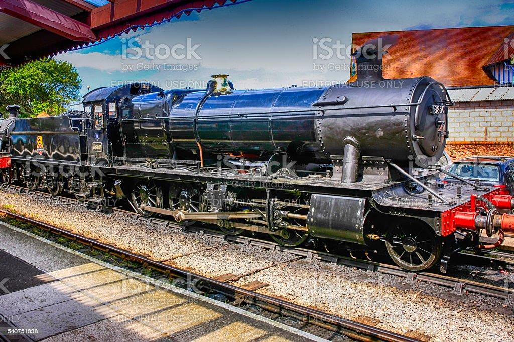 1903 2-8-0 Class 2884 Steam locomotive at Minehead UK stock photo