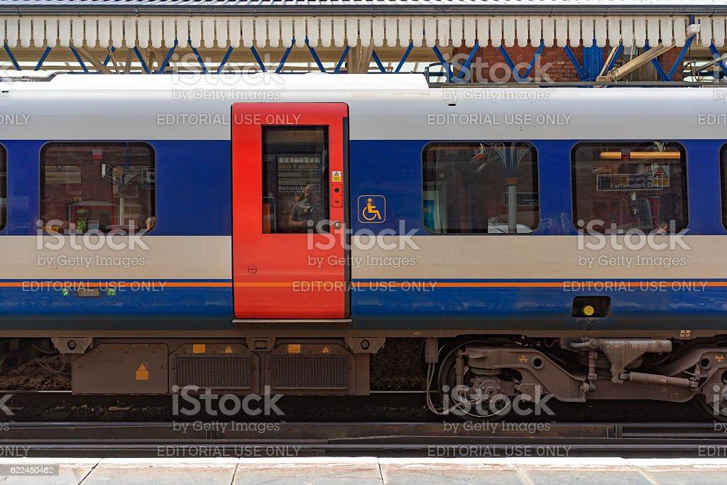 Class 444 EMU at Basingstoke station stock photo