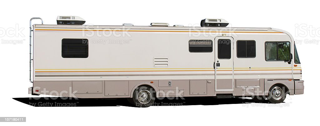 Class A Motorhome (with clipping paths) stock photo