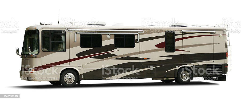 Class A Motorhome (with clipping path) stock photo