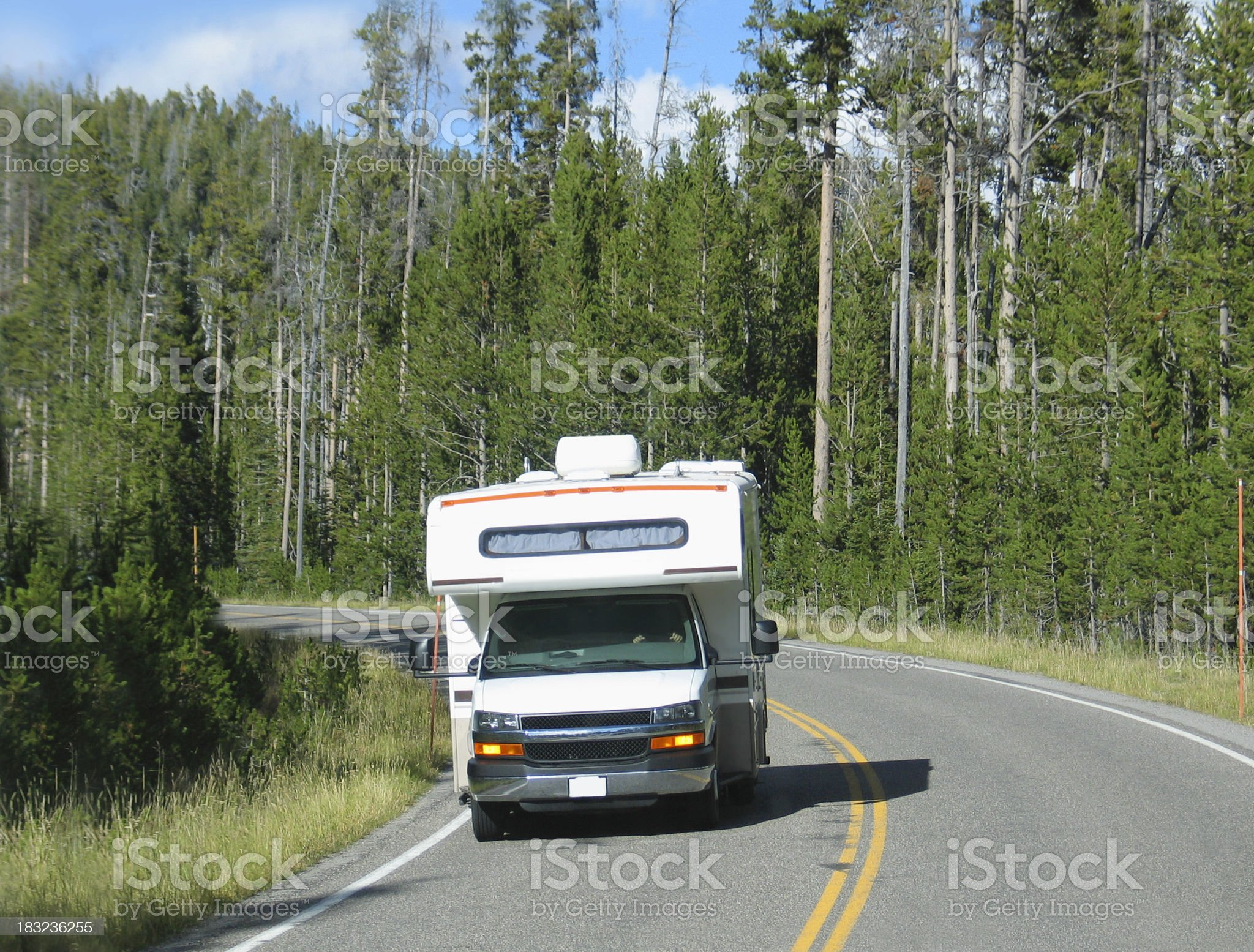 Class C Motorhome royalty-free stock photo