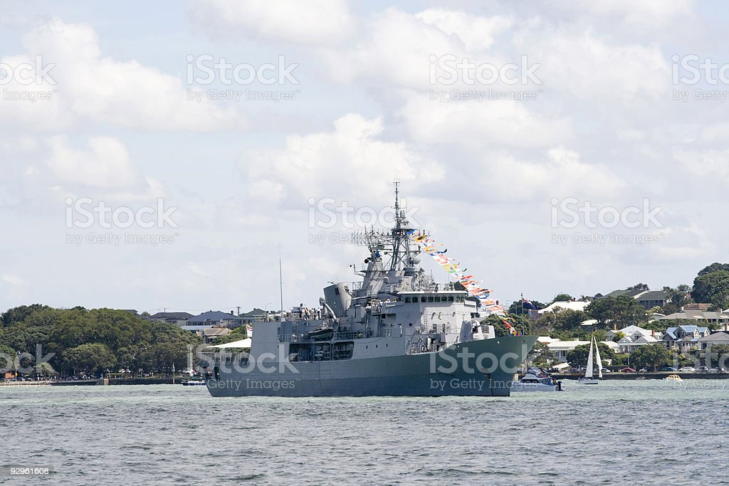 ANZAC class frigate royalty-free stock photo