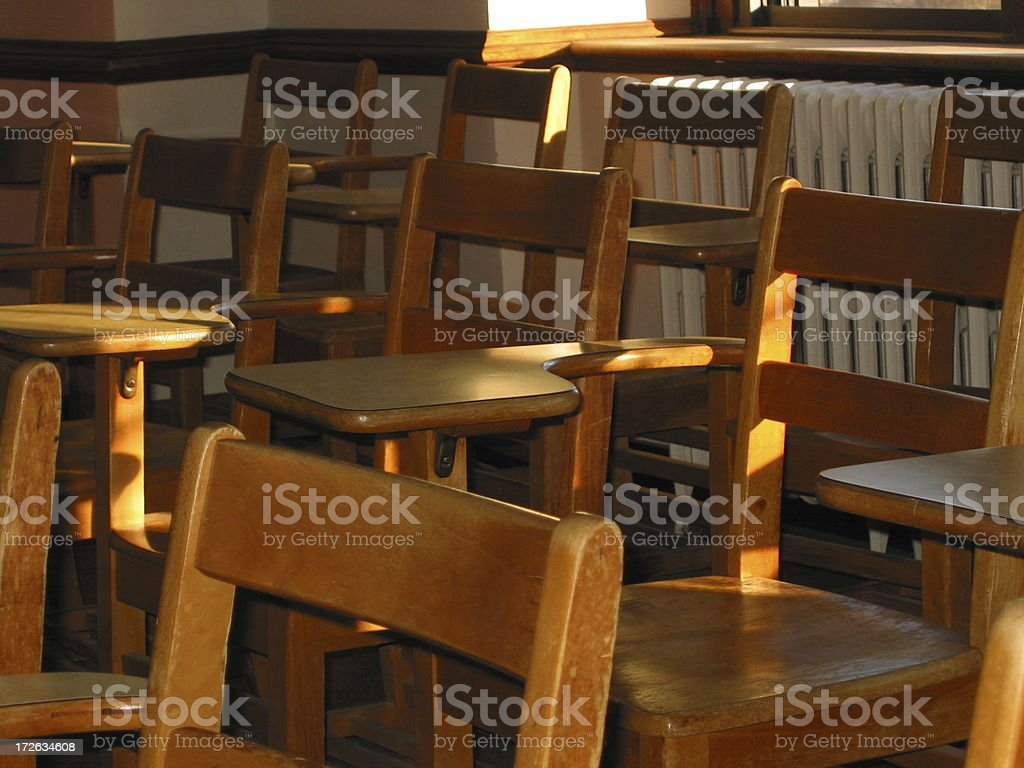 Class full of Chairs - A royalty-free stock photo