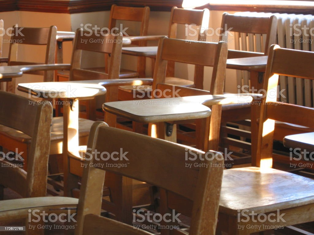 Class full of Chairs - B royalty-free stock photo