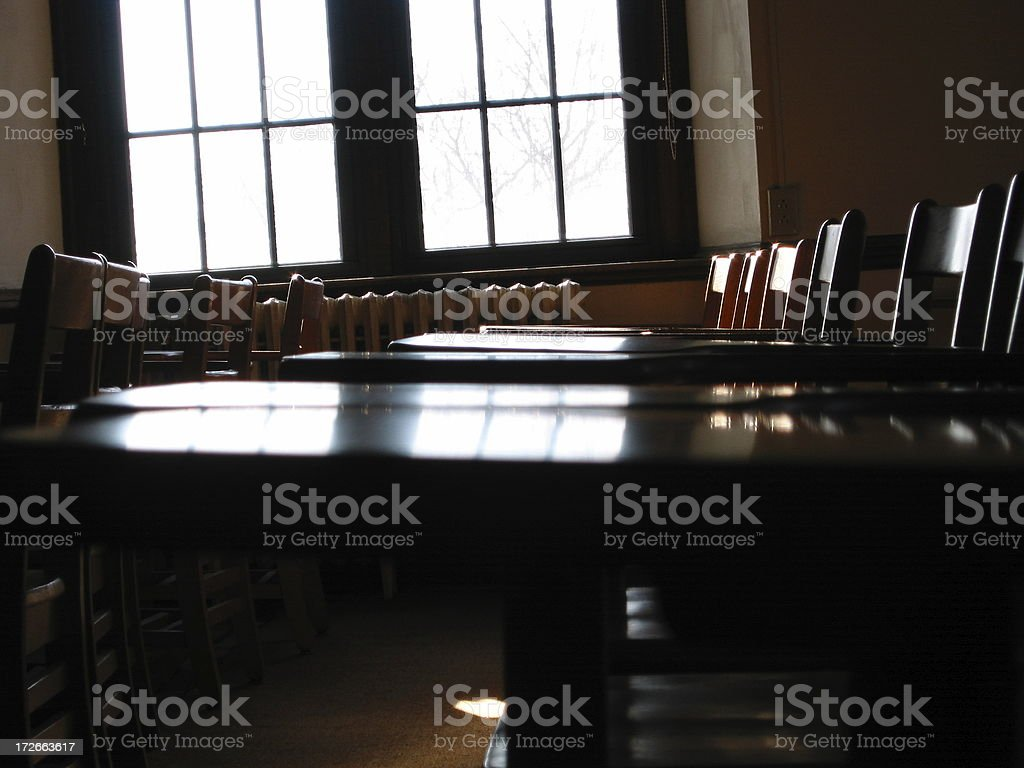 Class full of Chairs - D royalty-free stock photo