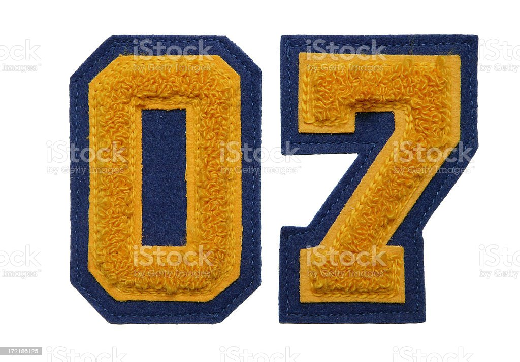 Class of '07 royalty-free stock photo