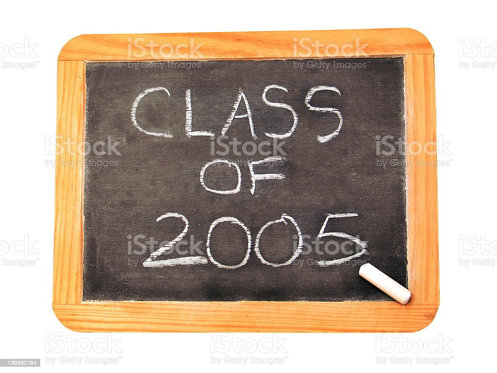 Class of 2005 royalty-free stock photo