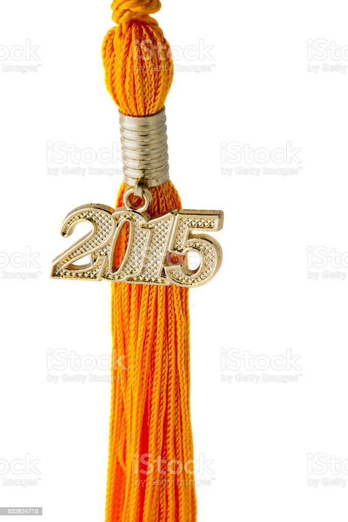 Class of 2015 Pendant and Tassel with Path stock photo