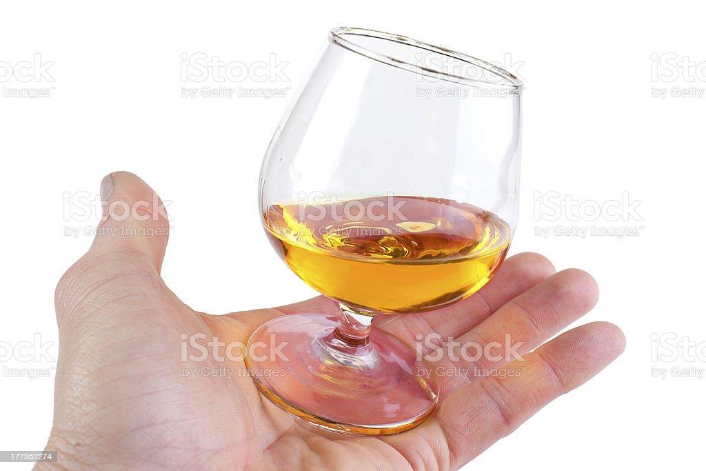 Class of brandy royalty-free stock photo