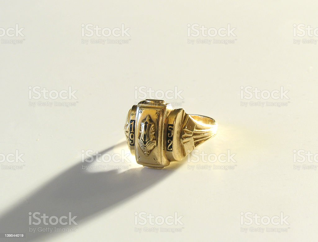 Class Ring from 1952 stock photo