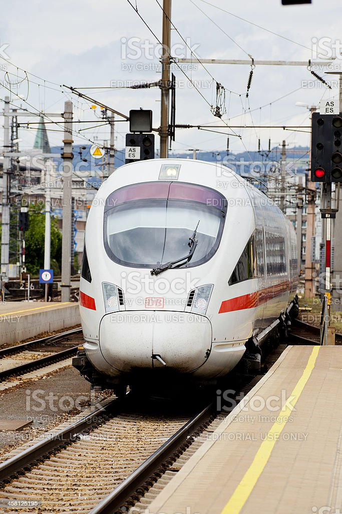ICE-T class train enters the station at Linz royalty-free stock photo