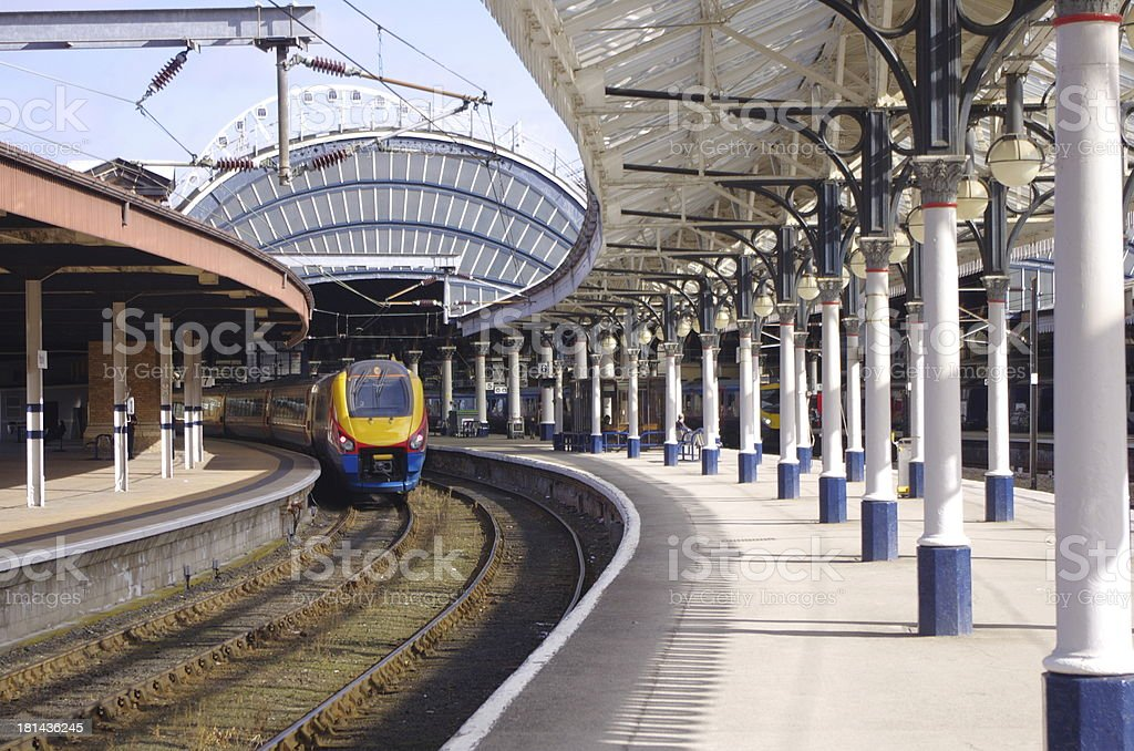 Class222 Train,York Railway Station royalty-free stock photo