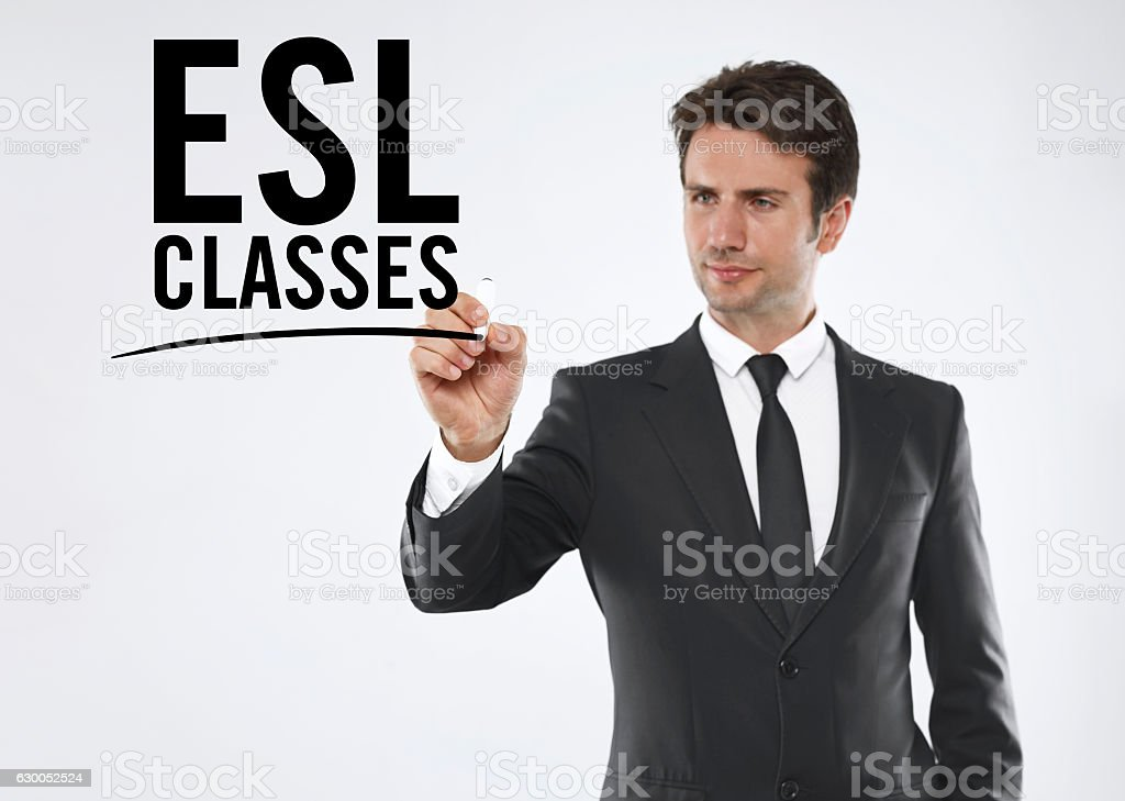 ESL classes stock photo