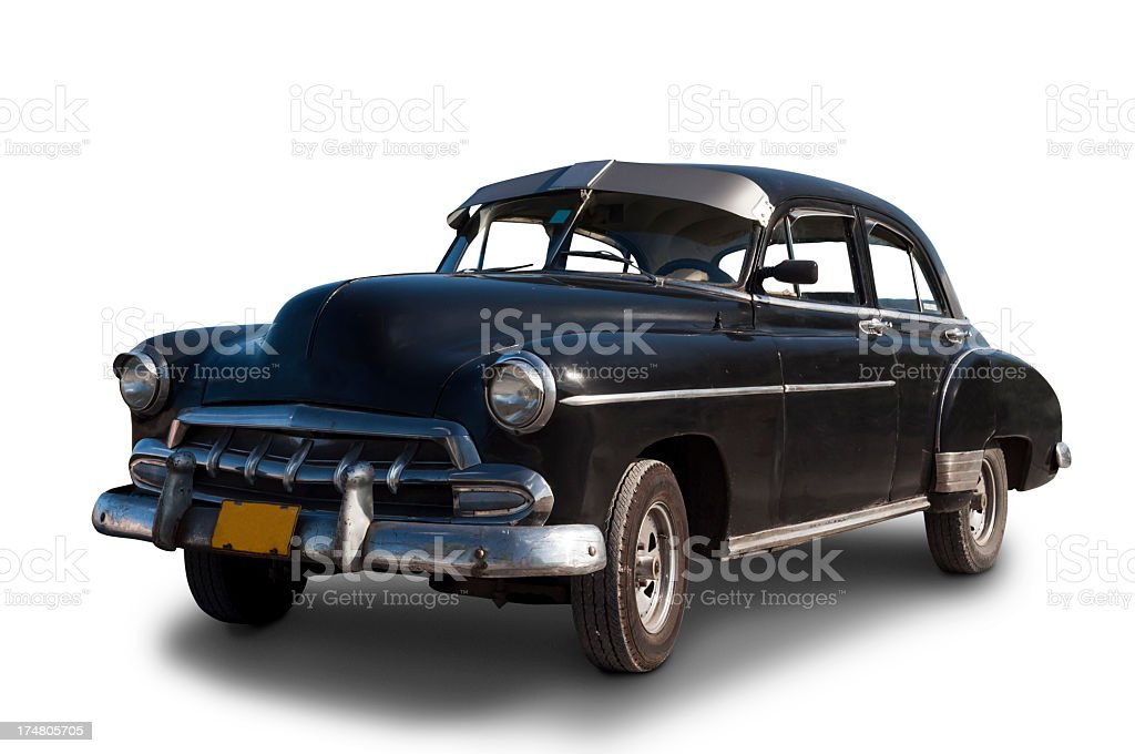 Classic 1950 Chevrolet Styleline black stock photo