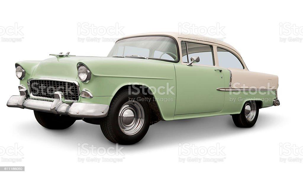 Classic 1955 American Car stock photo
