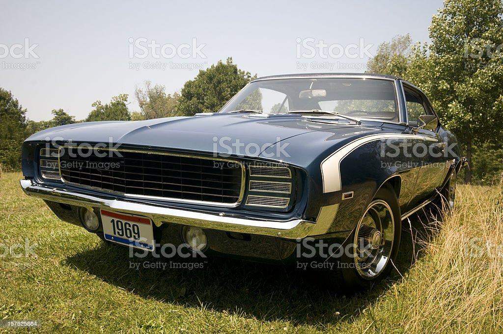 Classic 1969 Camaro Outside stock photo