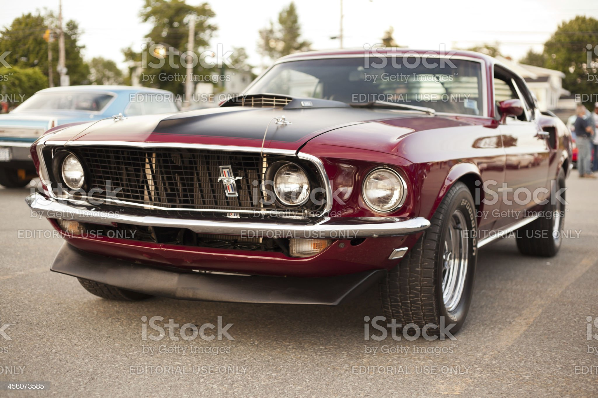 Classic 1969 Ford Mustang Mach 1 royalty-free stock photo