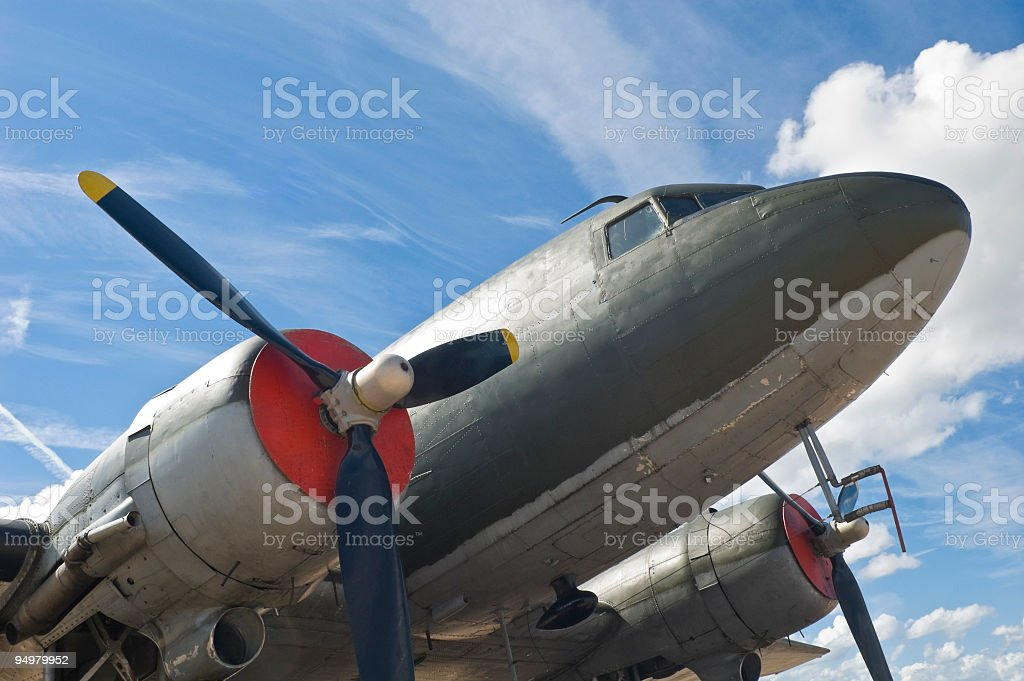 Classic 20th Century aircraft royalty-free stock photo