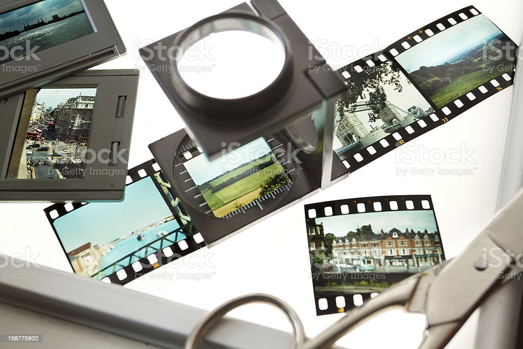 Classic 35 mm slides royalty-free stock photo