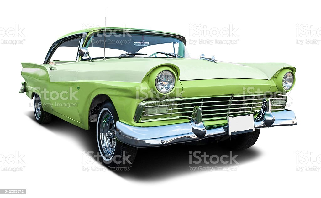 Classic 50's car stock photo