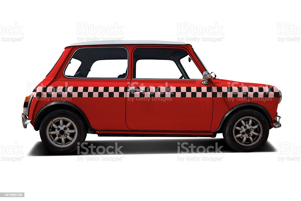 Classic 60's Mini car stock photo